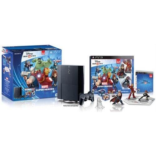 Sony Playstation 3000473 PS3 12GB HW Bundle (CECH-4301A) - Disney Infinity 2.0 und Figuren