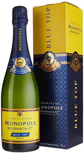 Champagne Monopole Heidsieck Blue Top Brut mit Geschenkverpackung (1 x 0.75 l) - Blue Champagne Cocktail