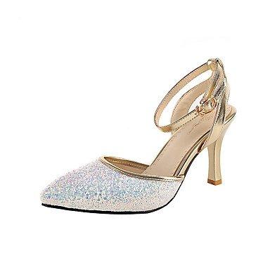 Zormey Frauen Schuhe Schuhe Heels Fr¨¹hling Sommer Herbst Winter Plattform Comfortwedding Party & Amp Abends L?ssig Stiletto Heel Imitation Pearlblack US7.5 / EU38 / UK5.5 / CN38
