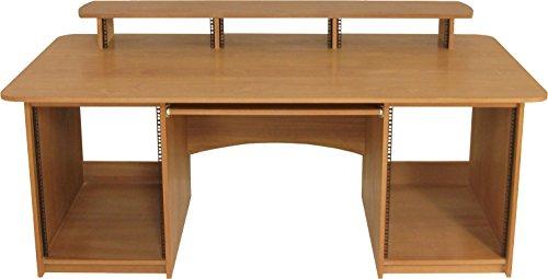 Studio Produktion,, Aufnehmen, Bearbeiten Schreibtisch, echt Holz furniert, pd2V Sapele