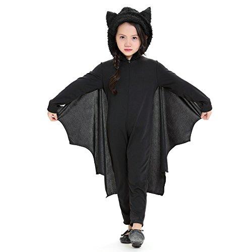 Kostüm Mädchen Kleinkind Vampir Kinder (Pueri Kinder Vampir Kostüm Fasching Halloween Vampir Cosplay Kostüm für Mädchen Jungen)