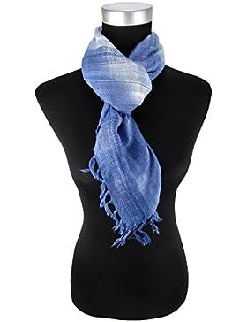 pañuelo en azul claro plata gris a cuadros con refriega - tamaño 90 x 90 cm