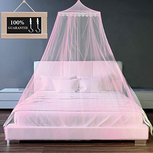 Moskitonetz für Einzel Doppelbetten, Moskitoschutz Zuhaus Mesh Moskitonetz Bett Insektennetz Betthimmel, schützt Baby und Familie vor Insekten ,für Reise und Zuhause