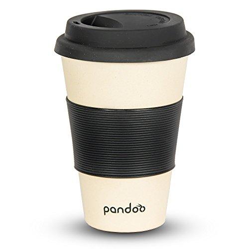 pandoo Bambus Coffee-to-Go-Becher | Kaffee-Becher, Trink-Becher, Bamboo-Cup | ökologisch abbaubar,...