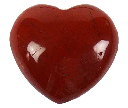 Steengoed diaspro pietra gemma a forma di cuore, pietra, rosso, 40mm