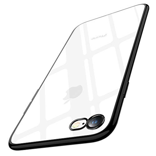 Joyguard Coque iPhone 8 Silicone, Coque iPhone 7, Ultra Mince Premium TPU Plating Coquille [Crystal Clear] [Poids léger] [Shock-Absorption] Etui Case Cover pour iPhone 7/8-4.7pouces - Noir