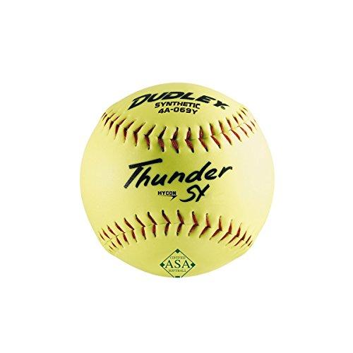 Dudley Thunder SY HyCon 52/.300 Softball 30,5 cm ASA Slow Pitch (4A069Y) - halbes Dutzend 6 Bälle