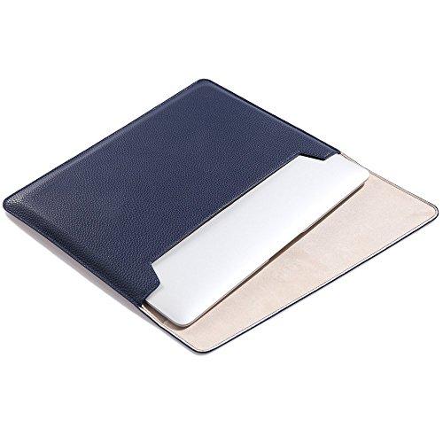 Preisvergleich Produktbild LIANG MacBook air MacBook Pro iPad Air2 11.6, 12, 13.3, 15.4 zoll hülle leder tasche Hülsenkoffer PU-Leder Laptoptasche Schützend Tragen Hüllen(13.3 Zoll,blau)