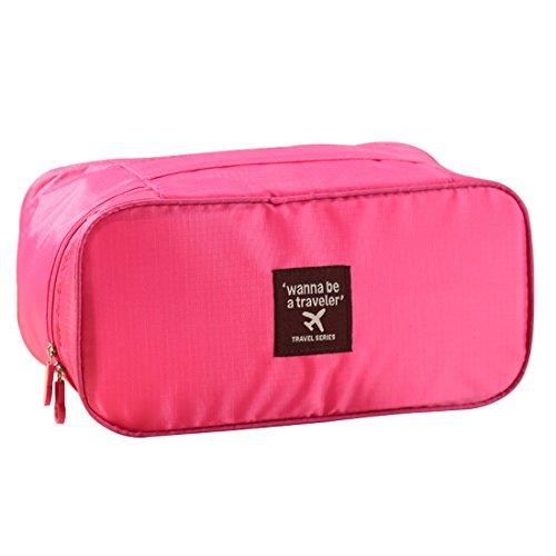 Bolsa de maquillaje organizador de viaje sujetador ropa interior caso