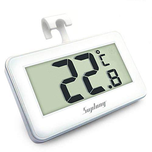 Termómetro del refrigerador, AIGUMI termómetro impermeable del congelador del refrigerador de Digitaces...