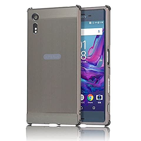 Sony Xperia XZ Case, Sunroyal Ultra Slim Shock Absorbing Premium Detachable Aluminium Mirror Metal Bumper Frame PC Back Skin Anti-Scratch Absorption Anti-Scratch Shield Edge Protective Hard Case Cover for Sony Xperia XZ -