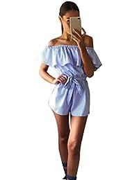 Suchergebnis Auf Amazon De Fur Volant Jumpsuits Damen Bekleidung
