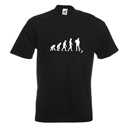 KIWISTAR - Evolution Straßenreiniger T-Shirt in 15 verschiedenen Farben - Herren Funshirt bedruckt Design Sprüche Spruch Motive Oberteil Baumwolle Print Größe S M L XL XXL Schwarz