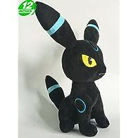 Pokemon Peluche Umbreon/Nachtara/Noctali Shiny Sentado 30cm
