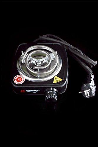 leanzünder Heizplatte Kohlebrenner zum elektrischen Anzünden von Shisha-Kohle oder auch Grill-Kohle auf einer Heizspirale ()