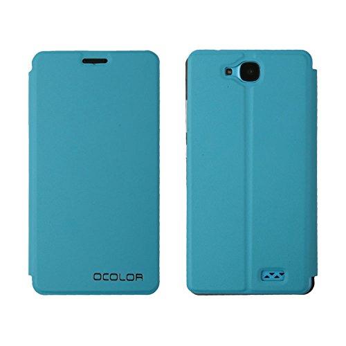 Guran® PU Leder Tasche Etui für Oukitel C3 Smartphone (Keine Innenschale) Flip Cover Stand Hülle Case-blau