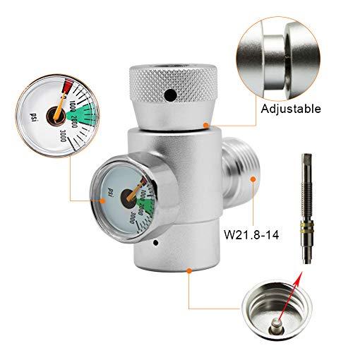 Jeffergarden CO2-Füllbehälter-Nachfülladapter-Anschlusskit für SodaStream (#4: Silver Adapter Without Meter)