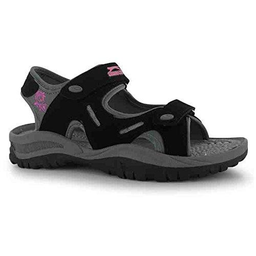 slazenger-sandalias-de-vestir-de-caucho-para-mujer-negro-negro-color-negro-talla-40