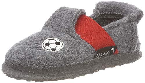 Nanga Jungen Soccer Bear Niedrige Hausschuhe Grau (Mittelgrau 64) 29 EU