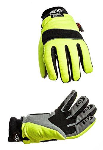 Aero Sport® ag90s Hochsichtbare, Windbreaker Handschuhe, gelb