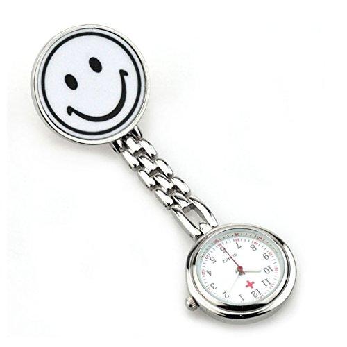 Quarz Schwesternuhr Taschenuhr Pulsuhr Brosche Uhr Krankenschwester Uhren Laecheln Gesicht