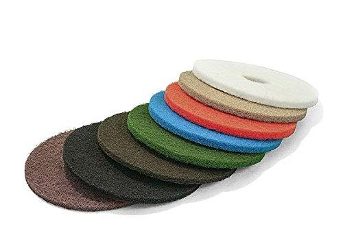 Parkett Schleifpad, Polierpad, Superpad, Ø 406 mm / 16 Zoll, 22 mm Materialstärke, 5-er Pack (Beige)
