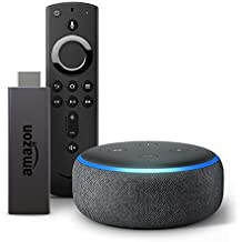 Echo Dot (Black) bundle with Fire TV Stick