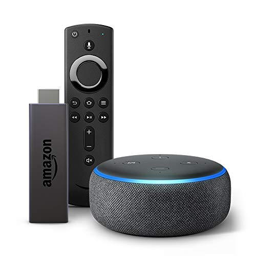 Echo Dot (Black) bundle with Fire TV Stick