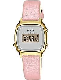 Casio Orologio Digitale Quarzo Donna con Cinturino in Vera Pelle LA670WEFL-4A2EF