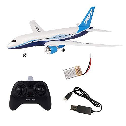 Aerei telecomandati in schiuma assemblati fai-da-te, aliante, velivoli a controllo remoto, regalo per bambini, aereo a elica fissa RC Boeing 787 2.4G 3CH RC drone EPP RC