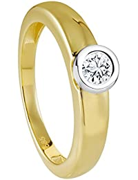 Diamond Line Damen - Ring 585er Gold 1 Diamant, gelbgold