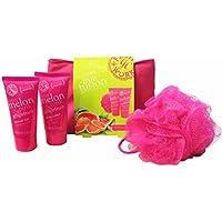 Grace Cole Fruit Works 4-Pc Pink Bath
