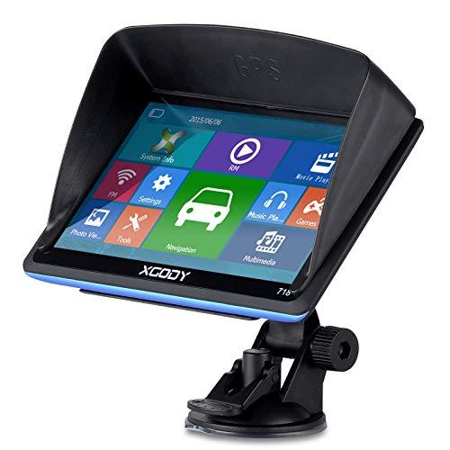 XGODY GPS 718,Navegador para Coche y Camión -Navegación de 7 Pulgadas-Llamadas Manos...