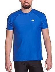 iQ-UV Herren UV-Schutz T-Shirt IQ 300 Watersport, Dark-Blue, XL (54)