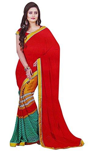 traditionelle Kleidung Frauen Georgette Mode sarees elegante indische ethnischen Kostüm