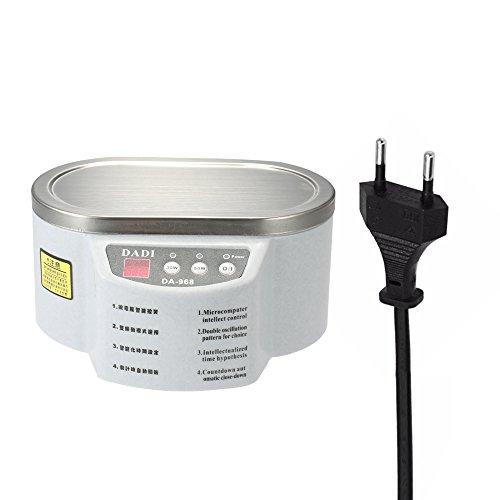 KKmoon 600ml affichage numérique Nettoyeur à Ultrasons appareil de stérilisation pour nettoyer gioelli, montres, lunettes, cD, Dentiere, disques etc