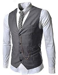 Clásico Waistcoat Chaleco para Hombre Blazers Sin Mangas