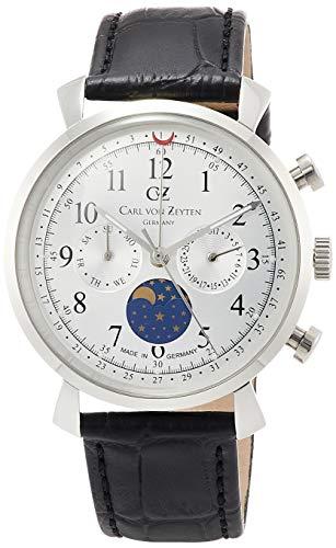 Carl von Zeyten Reloj Fase Lunar para Hombre de Cuarzo con Correa en Cuero CVZ0015SL