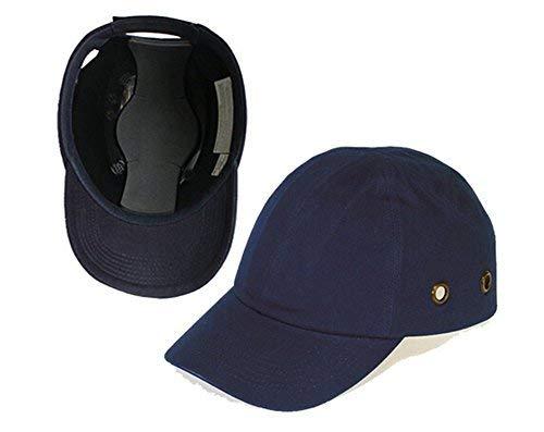 Babimax Berretto da baseball Bump Ball - Cappello leggero di protezione della testa del cappello rigido di sicurezza (4 fori traspiranti)