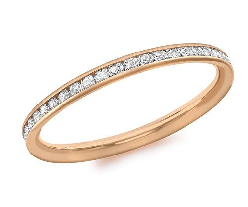Carissima Gold Ring 9k (375) Rotgold Zirkonia Band - Größe L (Gold Gelb Ring)