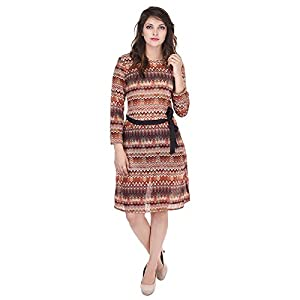 SAARVI FASHION Women'S Knee Length Dress