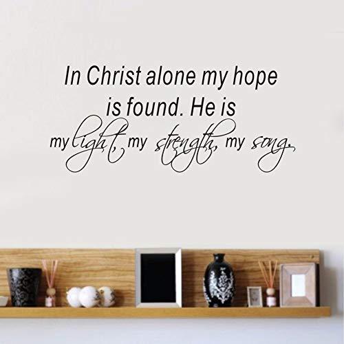 haochenli188 Bibel Verse Wandtattoo Zitat In Christus Allein Meine Hoffnung Ist Gefunden Vinyl Aufkleber Home Schlafzimmer Aufkleber Int 58x25 cm