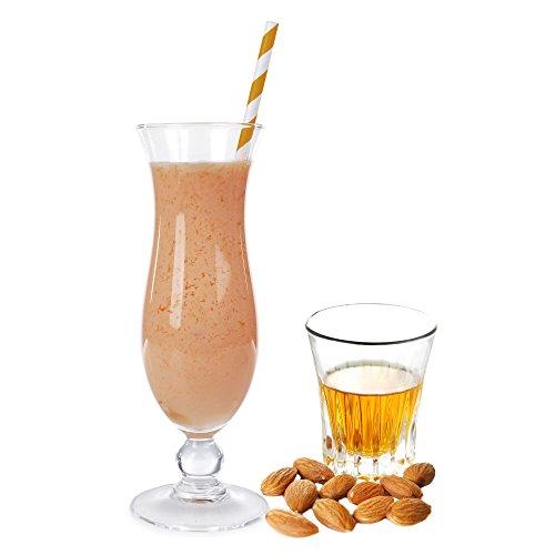 Amaretto Geschmack Eiweißpulver Milch Proteinpulver Whey Protein Eiweiß L-Carnitin angereichert Eiweißkonzentrat für Proteinshakes Eiweißshakes Aspartamfrei (1 kg)