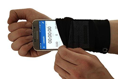 Phone Stretch: die flexible Smartphonetasche für den Unterarm - passend für die meisten Smartphones: iPhone, Samsung & Co - Joggen, Laufen, Fitness, Sport - Smartphone Armband, Handy Armtasche, Joggingtasche, Sportarmband, Handgelenktasche, Handytasche, Lauftasche