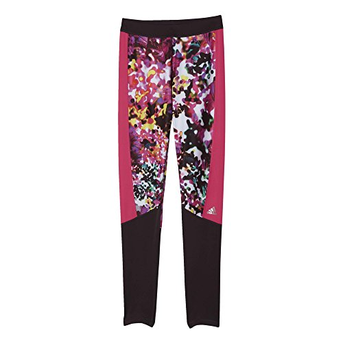adidas Damen Tights Techfit Floral, Multicolor/Print/Matte Silver, XL, AJ0537 (Print Floral Multi Color)