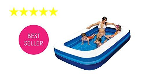 Aufblasbare Rechteckige Familie Deluxe Riesige Qualität Schwimmen / Planschbecken - (2 X 1,5 M X 50 Cm)