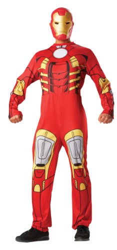 Iron Man and Mask Mens Avengers Superhero Movie Character Adults Costume Outfit (Marvel Comic Kostüme Ideen)