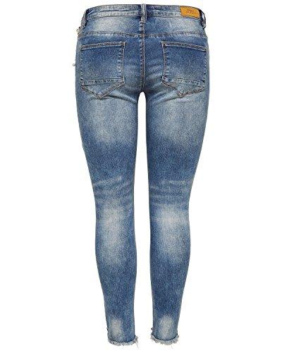 ONLY Damen Skinny Jeans Light Blue Denim