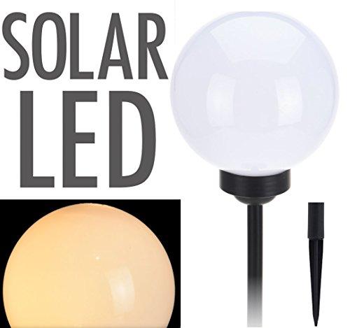 LED Solar Leuchtkugel - Kugelleuchte 25 cm in warmweiß - Solarleuchte Garten Lampe Solar Kugel