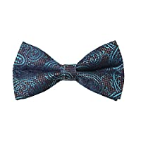 DBD7B33D Brown Blue Patterned Microfiber Males Bow Tie Series For Mens Pre-tied Bow Tie By Dan Smith